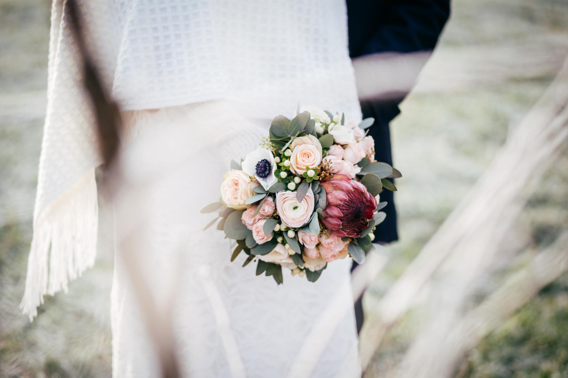 Brautstrauß für Winterhochzeit