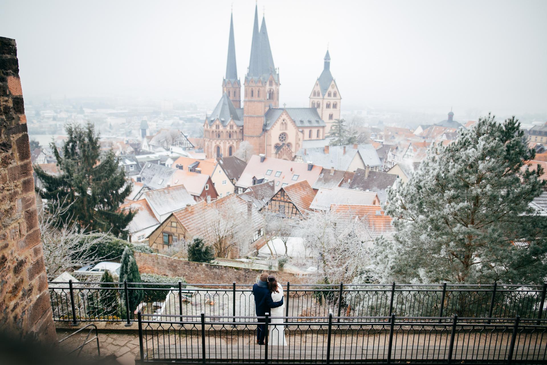 Eine freie Trauung im Winter