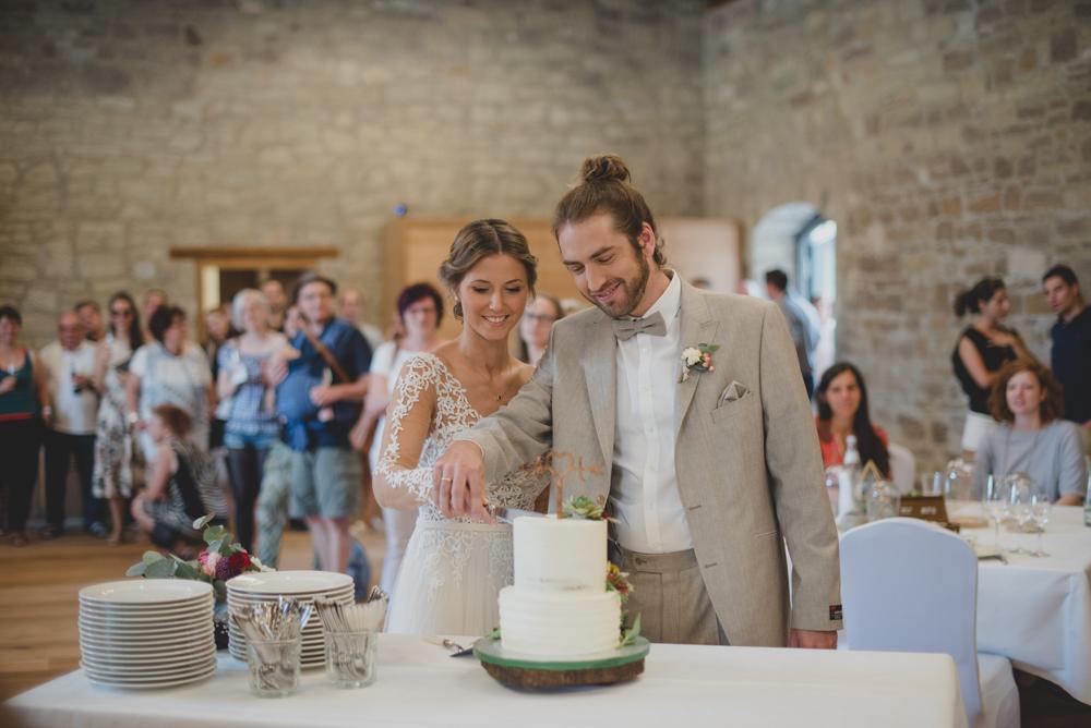 Hochzeitstorte mit Sukkulenten