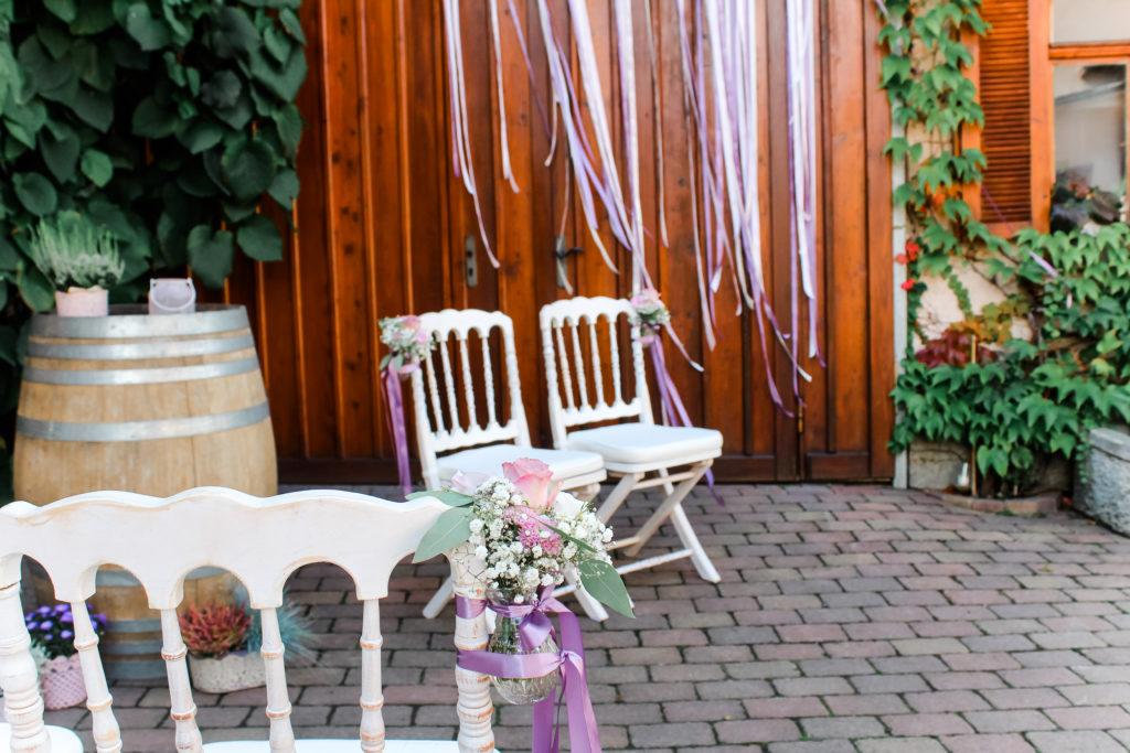Hochzeitsdeko freie Trauung