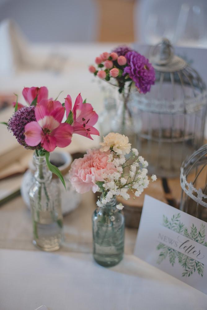 Blumen für die Hochzeitsdeko